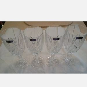 Marquis by Waterford Brookside Crystal Goblets New